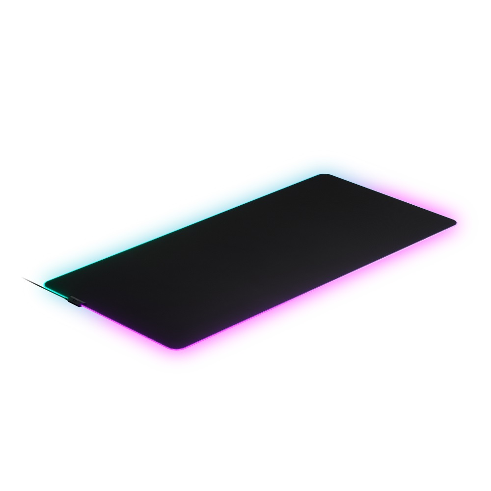 Gaming Goods SteelSeries 直営ストア 63511 QcK Cloth クロス素材のRGBゲーミングマウスパッド Prism 日本最大級の品揃え 3XL