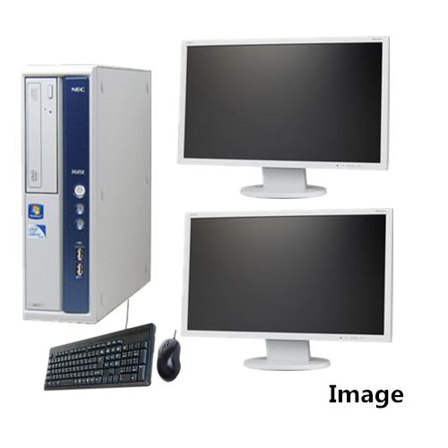 中古パソコン Windows 7【デュアルモニター】【純正Microsoft Office2013搭載】【無線付】【Windows 7 64Bit搭載】NEC MB-B Core i5 650 3.2G/4G/160GB/DVD-ROM【中古】【中古パソコン】【中古PC】【安心保証】