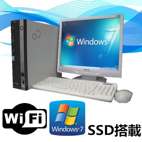 中古パソコン デスクトップ Windows 7【Windows 7搭載】【Office+19型液晶セット】富士通 FMV D550 Core2Duo E7500 2.93G/メモリ4G/新品SSD 240GB/DVD-ROM【中古】【中古パソコン】【送料無料】【安心保証】