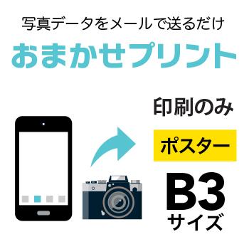 【写真データプリント】 10枚■B3(364×515mm )ポスター/インクジェット出力(水性)/出力のみ/納期:翌日出荷