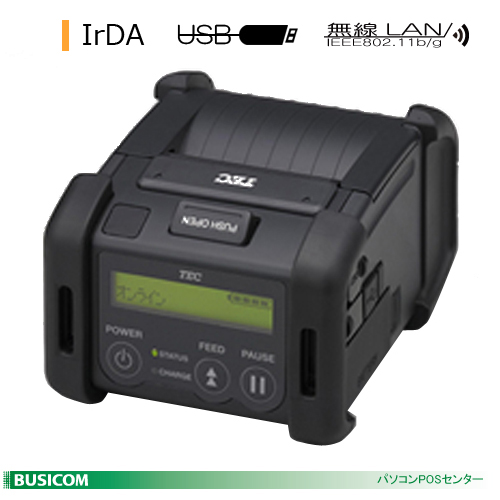 TEC 2inch幅ポータブルプリンタ B-EP2DL(IrDA+USB+無線LAN)【代引手数料無料】♪