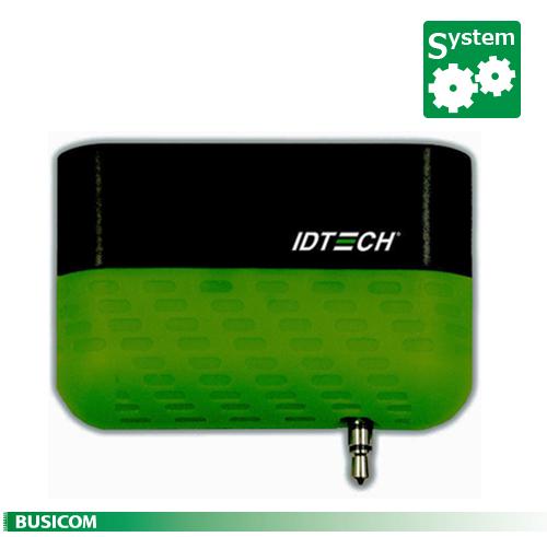 【IDTECH】iOS/Android 対応 2トラック モバイル磁気カードリーダー(イヤフォンジャック接続) Shuttle グリーン 要アプリ開発♪