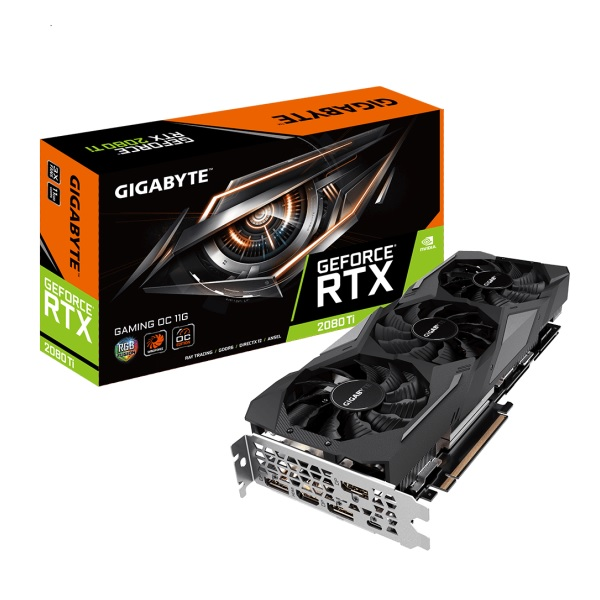 GIGABYTE GV-N208TGAMING OC-11GC [RTX2080TiGDDR6 11GB] GEFORCE RTX 2080Ti搭載 グラフィックボード