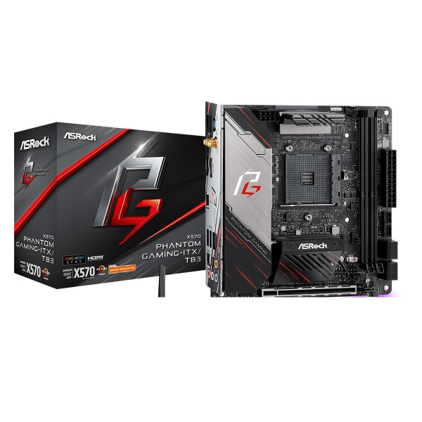 新製品 ASRock X570 Phantom Gaming-ITX/TB3 [Mini-ITX/AM4/X570] AMD X570チップセット搭載Mini ITXマザーボード
