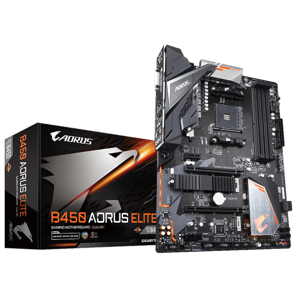 GIGABYTE B450 AORUS ELITE [ATX/AM4/B450] Socket AM4対応 AMD B450チップセット搭載ATXマザーボード