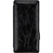 本革使用 ハンドメイド高級レザーケース ボンロニ 送料無料 BONRONI Premium 公式ショップ Leather 超歓迎された Book 黒 Z4 Case Xperia for smtb-kd