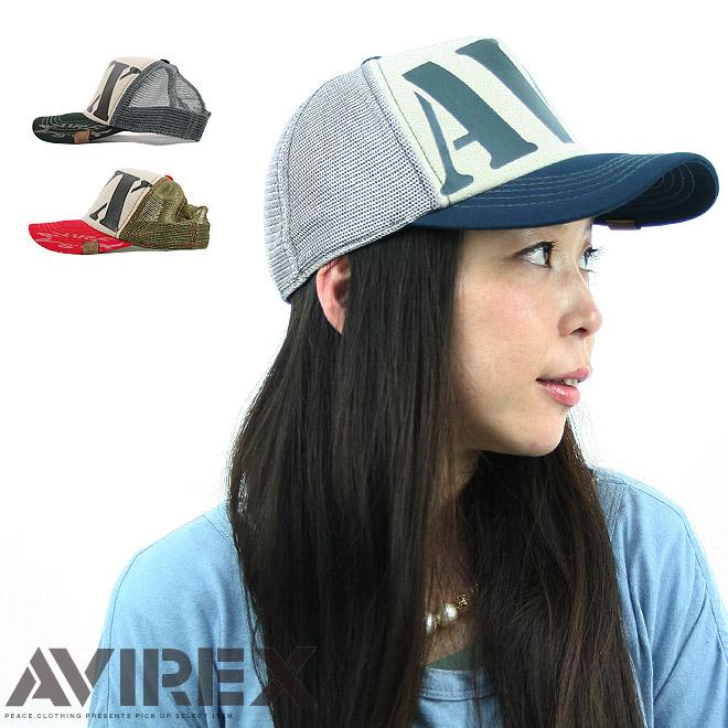 老舗ミリタリーブランドからビッグなブランドロゴのメッシュキャップが登場 AVIREX CAP 55AVXロゴプリントメッシュキャップ帽子 アビレックス 男女兼用 メンズ S 高品質 レディース サービス