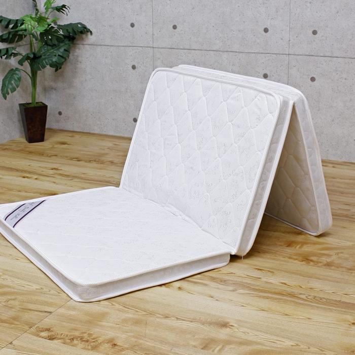 マットレス シングル パームマットレス 薄型 三つ折り 厚み6cm 2段ベッド用 S 97×195 アイボリー ココナッツ繊維 ハード 子ども 子供用 送料無料