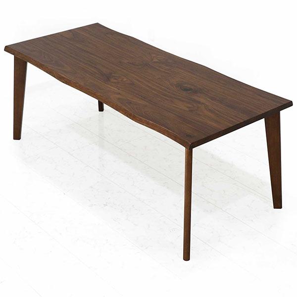 ダイニングテーブル 幅180cm 天然木 ウォルナット材 木製 ブラウン 奥行き80cm テーブル単体 なぐり加工 モダン おしゃれ 送料無料