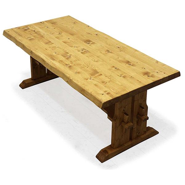 ダイニングテーブル 木製 幅180 高級感 なぐり加工 食卓テーブル 和モダンテイスト 楔 無垢材 ダイニング テーブル 食卓テーブル ナチュラル色 送料無料
