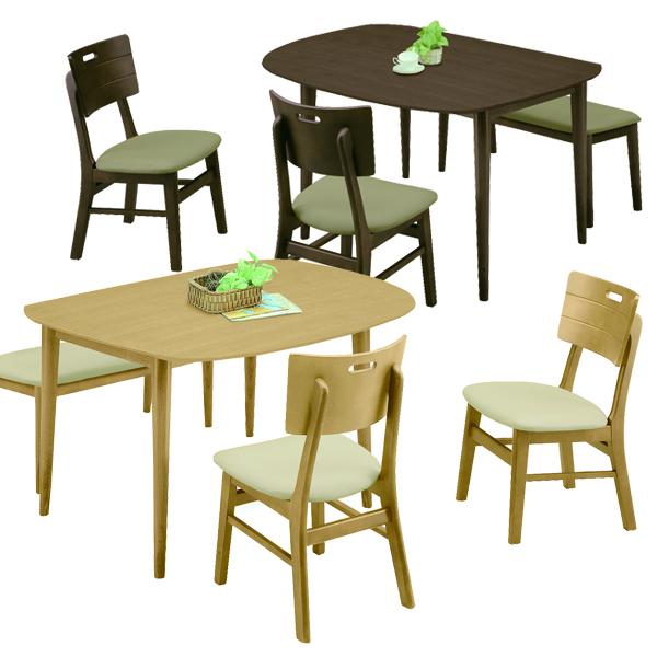 ダイニングセット 4点 幅130cm ダイニングテーブルセット 4人掛け 4人用 ベンチタイプ ブラウン ナチュラル 選べる2色 130×80 変形テーブル 座面 合成皮革 PVC 合皮 北欧 モダン シンプル オシャレ 木製 送料無料