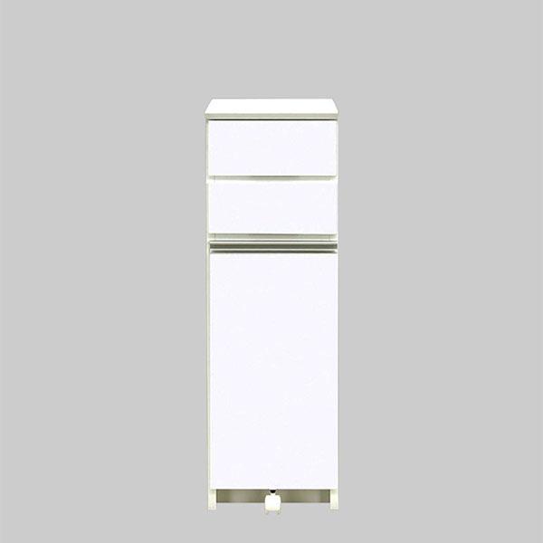 完成品 ゴミ箱 ダストボックス ごみ箱 幅32cm 国産 1分別 30リットル x1 ふた付きペール 横型 ホワイト 白 キャスター付き ダスト カウンター 30l 奥行き45cm 高さ97cm 大容量 見えない おしゃれ キッチンカウンター 収納 送料無料