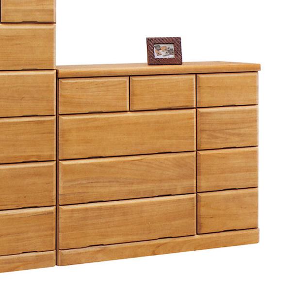 チェスト タンス ローチェスト 幅120cm 4段 木製 シンプル モダン 完成品 桐材 送料無料
