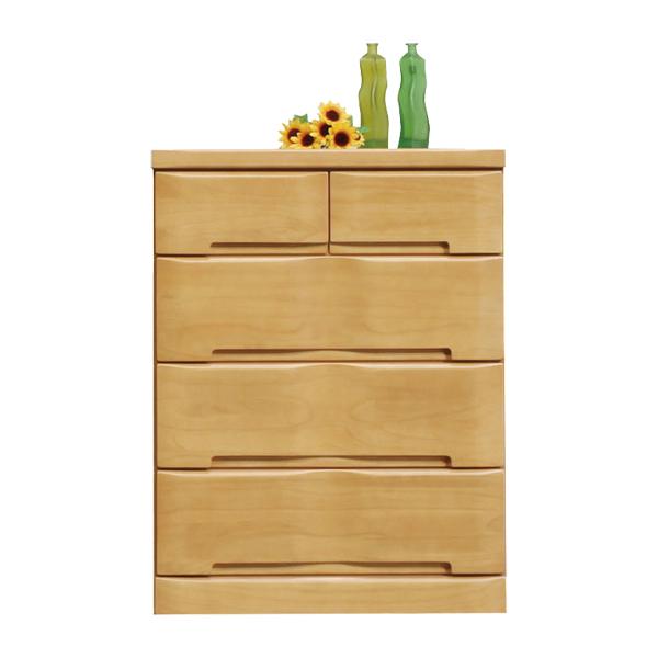 ローチェスト たんす 75 4段 桐材 選べる2色 北欧 モダン 日本製 木製 完成品 通販 送料無料
