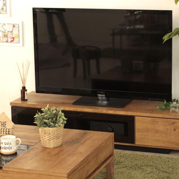 テレビ台 TV台 テレビボード 幅140cm ブラウン 引き出し 奥行40cm 高さ30cm TVボード ローボード テレビラック 木製 リビング収納 おしゃれ シンプル モダン 完成品 送料無料