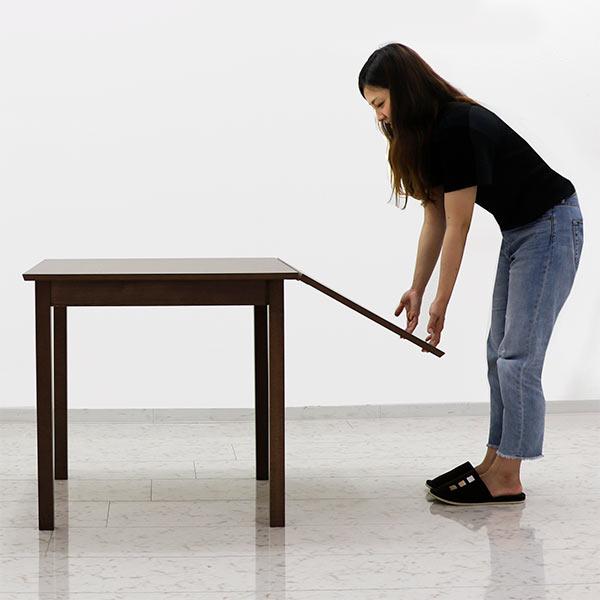 伸長式 テーブル ダイニングテーブル ブラウン 奥行き75cm ウォルナット バタフライテーブル モダン 食卓テーブル 人気 木製 長方形 送料無料