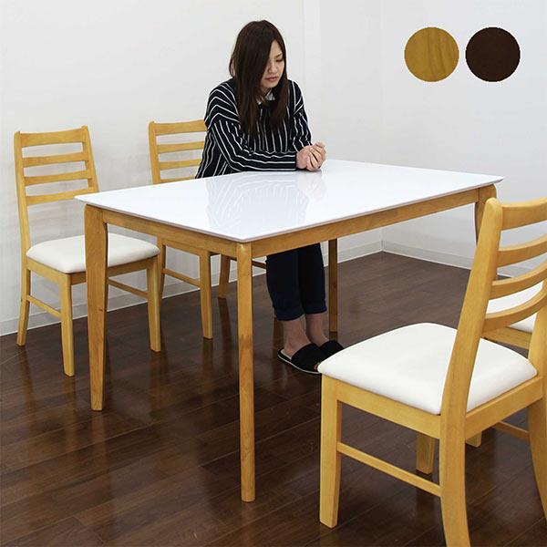 ダイニングセット ダイニングテーブルセット 5点セット 鏡面ホワイト ホワイト天板 選べる2色 4人掛け 木製 北欧 シンプル モダン 食卓セット 送料無料 光沢 ツヤあり 艶あり