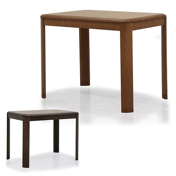 こたつテーブル 幅90cm ダイニングテーブル 長方形 ブラウン ナチュラル 選べる2色 ハイコタツ ダイニングこたつ コタツ テーブル 単体 継脚 高さ調節 シンプル モダン 木製 送料無料