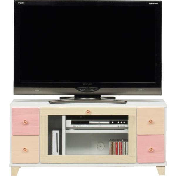 テレビ台 テレビボード ローボード 幅100cm 木製 完成品 桐材 AV収納 送料無料