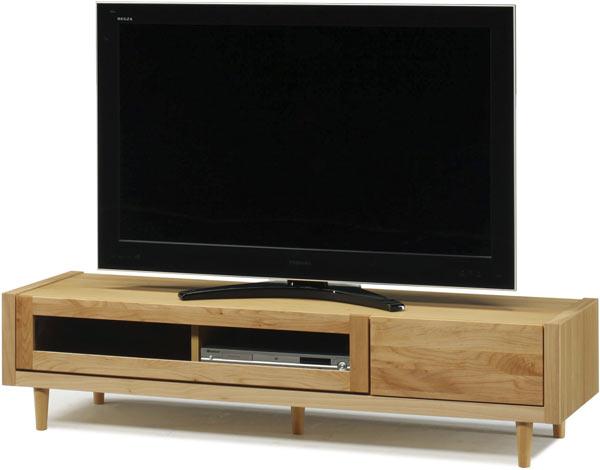 テレビ台 ローボード 幅153 ナチュラル おしゃれ 脚付き 北欧 木製 収納家具 完成品 通販 送料無料