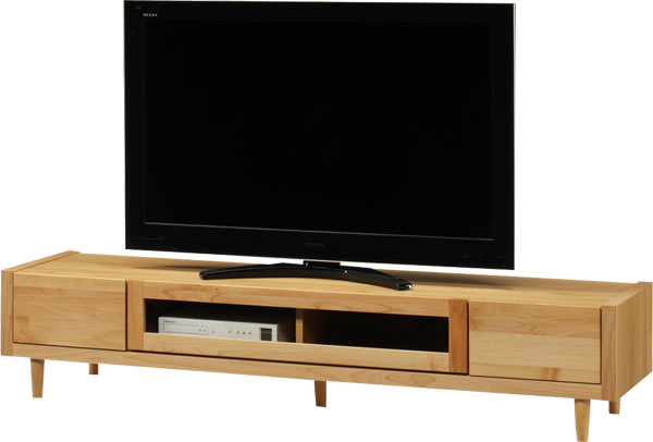 テレビ台 ローボード 幅180 ナチュラル おしゃれ 脚付き 北欧 木製 収納家具 完成品 送料無料