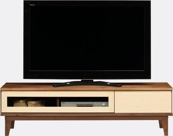 テレビ台 ローボード 幅153 ナチュラル ブラウン おしゃれ 脚付き 北欧 木製 収納家具 完成品 送料無料