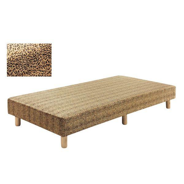 脚付きマットレス ベッド シングル ボンネルコイル ヒョウ柄 シンプル 送料無料