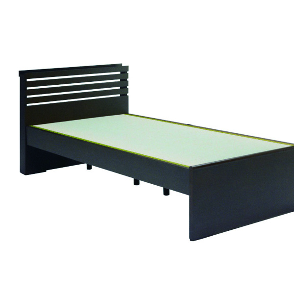 畳ベッド ベッド シングルベッド 幅96cm コンセント付き 国産タタミ使用 たたみ ベッドフレーム フレームのみ ブラウン タモ材 和風 和 シンプル モダン 木製 おしゃれ 送料無料