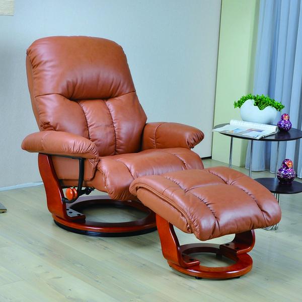 本革 リクライニング チェアー レザー パーソナルチェア オットマン付 肘付き チェア 椅子 足置き台付き 一人掛け 一人用 ブラウン ダークブラウン 選べる2色 イス いす シンプル モダン 送料無料