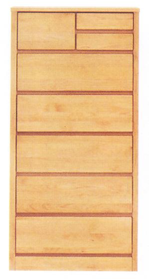 チェスト タンス ハイチェスト スリムチェスト 幅60cm 6段 木製 国産 シンプル ナチュラル アルダー材 完成品 送料無料