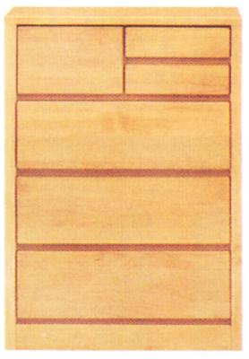 チェスト タンス ローチェスト スリムチェスト 幅60cm 4段 木製 自然塗装 シンプル ナチュラル 完成品 アルダー材 送料無料
