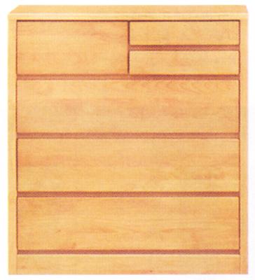 チェスト タンス ローチェスト 幅80cm 4段 木製 自然塗装 シンプル ナチュラル 完成品 アルダー材 送料無料