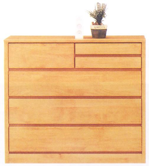 チェスト タンス ローチェスト 幅100cm 4段 木製 自然塗装 シンプル ナチュラル 完成品 アルダー材 送料無料