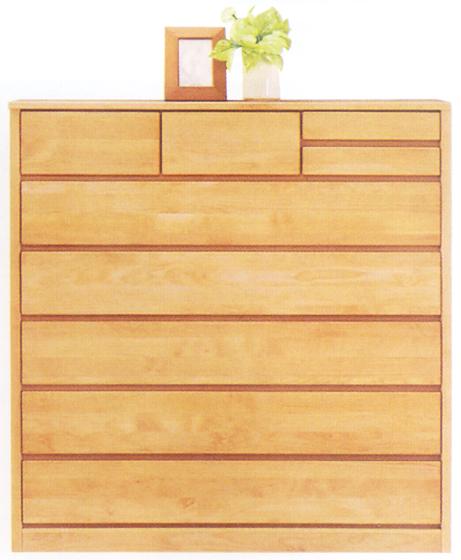 チェスト タンス ハイチェスト ワイドチェスト 幅120cm 6段 木製 国産 シンプル ナチュラル アルダー材 完成品 通販 送料無料
