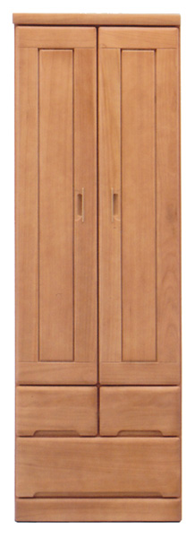 ワードローブ クローゼット ロッカー 服吊 幅60cm 北欧 シンプル モダン 木製 完成品 桐材 送料無料
