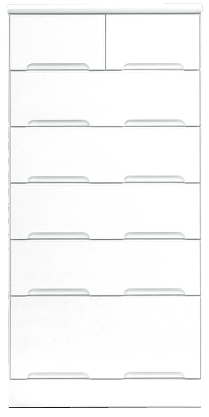 60幅 チェスト ハイチェスト 完成品 6段 鏡面 ホワイト 白 ハイタイプ 60 奥行45cm 高さ130cm 引き出し レール付き タンス 箪笥 洋服ダンス 洋タンス 衣類収納 収納力 大川家具 壁面収納 日本製 シンプル 北欧 木製 通販 送料無料