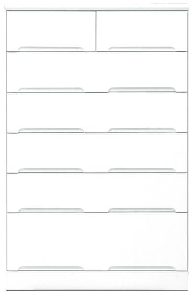 80幅 チェスト ハイチェスト 完成品 6段 鏡面 ホワイト 白 ハイタイプ 80 奥行45cm 高さ130cm 引き出し レール付き タンス 箪笥 洋服ダンス 洋タンス 衣類収納 収納力 大川家具 壁面収納 日本製 シンプル 北欧 木製 送料無料
