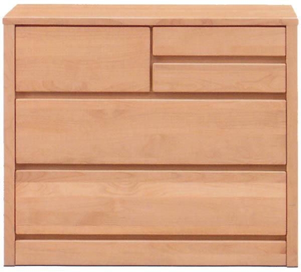 チェスト タンス ローチェスト 幅80cm 3段 木製 シンプル ナチュラル 国産 完成品 アルダー材 送料無料