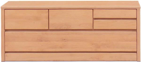 チェスト タンス ローチェスト 幅120cm 2段 木製 シンプル ナチュラル 国産 完成品 アルダー材 通販 送料無料