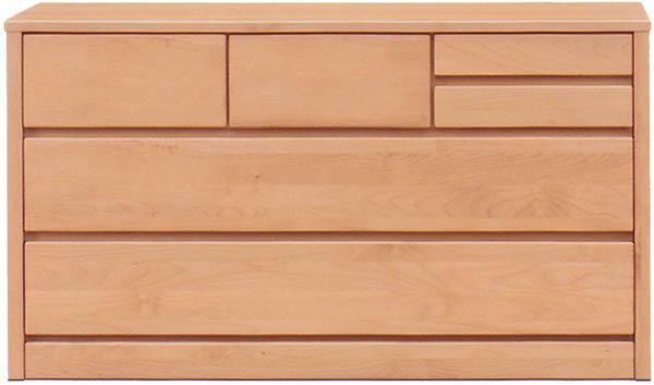 チェスト タンス ローチェスト 幅120cm 3段 木製 シンプル ナチュラル 国産 完成品 アルダー材 送料無料