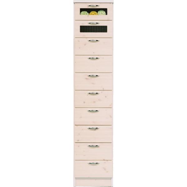 チェスト タンス ハイチェスト スリムチェスト 幅40cm 10段 木製 シンプル モダン パイン材 完成品 送料無料