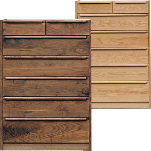 タンス チェスト ハイチェスト 幅90 6段 ナチュラル ブラウン 収納家具 木製 北欧 完成品 送料無料