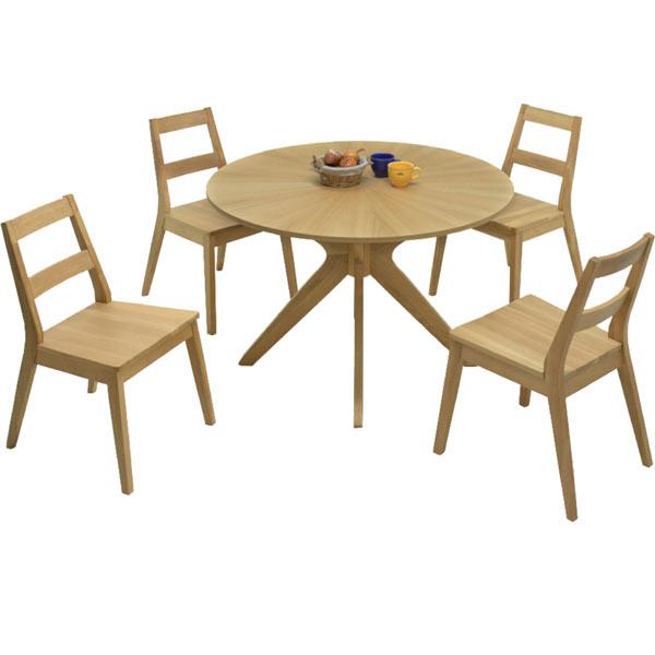 ダイニングセット ダイニングテーブルセット 丸テーブル 5点セット 4人掛け 円卓ダイニングセット 食卓セット 通販 送料無料