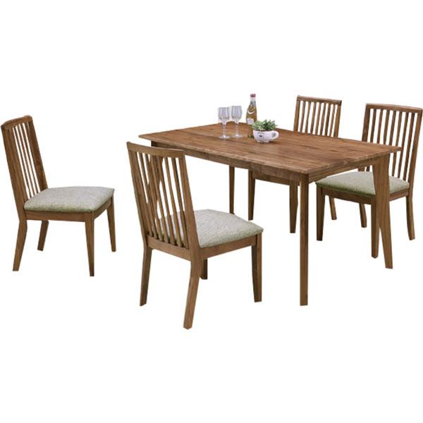 ダイニングセット ダイニングテーブルセット 5点セット 4人掛け 食卓セット 135テーブル シンプル 北欧 モダン 木製 無垢 ウォールナット 通販 送料無料