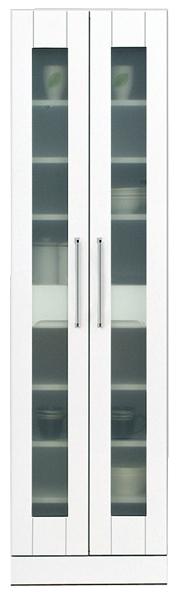 鏡面 食器棚 キッチンボード 50幅 ハイタイプ 高さ180cm ダイニングボード キッチン 収納 完成品 ホワイト 白 50 奥行45cm 移動棚 棚調節 壁面収納 大川家具 日本製 シンプル 北欧 木製 送料無料