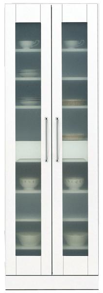 鏡面 食器棚 キッチンボード 60幅 ハイタイプ 高さ180cm ダイニングボード すき間収納 キッチン 収納 完成品 ホワイト 白 60 奥行45cm 移動棚 棚調節 壁面収納 大川家具 日本製 シンプル 北欧 木製 送料無料