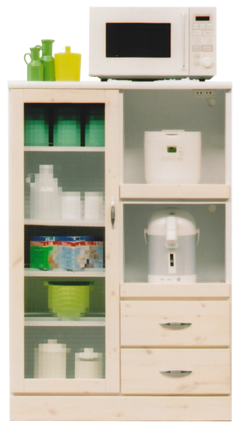 レンジ台 ワイド80cm キッチン収納 木製 選べる2色 日本製 完成品 送料無料