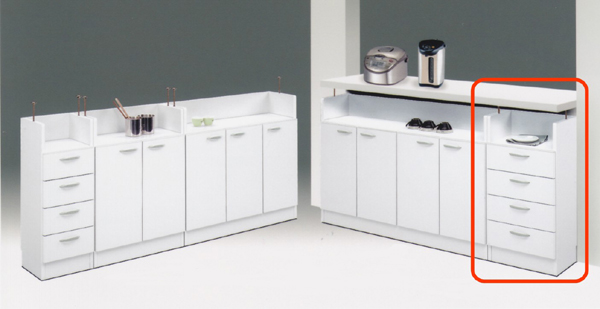 数量は多い  カウンター下収納 多目的キッチン収納でスッキリ ワイド40cm 家具通販 通販 家具通販 通販 ワイド40cm 送料無料, ナカグン:8810502c --- hortafacil.dominiotemporario.com
