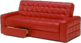 ソファベッド 引出し付 家具通販 2WAYリクライニング プリティ 人気のレトロ調デザイン レッド ソファーベッド 家具通販 通販 送料無料