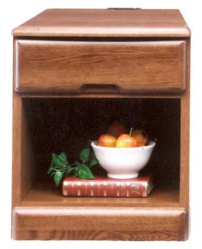 ナイトテーブル ベッドサイドテーブル ミニチェスト ベッドサイドチェスト 幅40cm コンセント付き シンプル モダン 木製 完成品 ニレ材 通販 送料無料